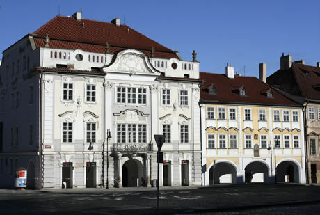 Palace at hradcani castle in prague photo
